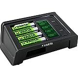 VARTA LCD SMART Charger inkl. LCD Smart Ladegerät für AA/AAA (bestückt) ReadytoUse AA Akkus Ladegerät für AA/AAA Micro/Mignon mit USB Anschluss Erhaltungsladung Einzelschachtladung 4 Modi: Aufladen, Entladen, Prüfen & Auffrischen - mit LCD Display
