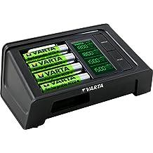 Varta LCD Smart Charger - Cargador de pilas (NiMH AA y AAA 4 pilas AA 2100 mAh incluídas)