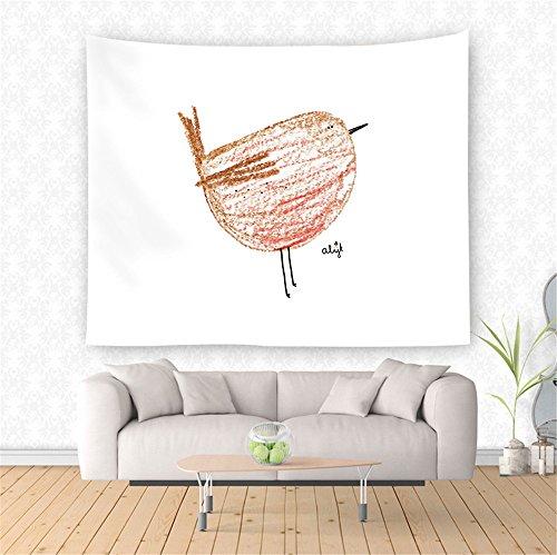 ppich wandtuch wandbehang Tapestry Tapisserie Wanddekoration Wandkunst wandtücher Küken 150x130cm ()