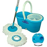 #4: Primeway Ultimate Magic Mop on 4 wheels with Water Outlet, Liquid Dispenser and 2 Microfiber Mop heads, 6.5 Ltr, Blue