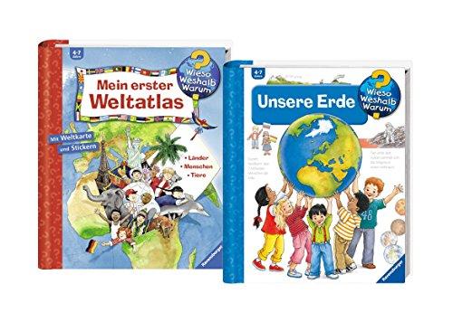 Ravensburger Kinder Sachbücher Set - Mein erster Weltatlas und Unsere Erde / Wieso? Weshalb? Warum?