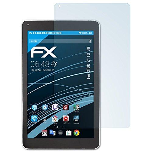 atFolix Schutzfolie kompatibel mit XIDO Z110 3G Folie, ultraklare FX Bildschirmschutzfolie (2X)