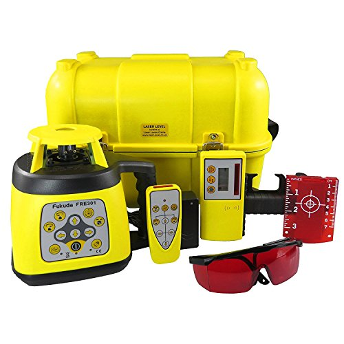 fukuda-fre-301r-fully-self-levelling-rotary-laser-level-including-laser-detector-remote-control-cert