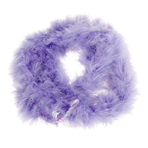 2M Boa Di Piume Di Marab¨´ Costume Per Feste Carnevale Matrimonio - Viola Chiaro