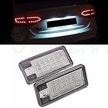 2x Lámpara Trasera Luz Matrícula 18LED luces lámparas Auto Car Audi A3S3A3Cabriolet A4S4B6A4S4B7A6C64F S6A8S8D3(4e) Q7RS4Avant RS4Cabriolet RS6Plus RS6Avant TA1