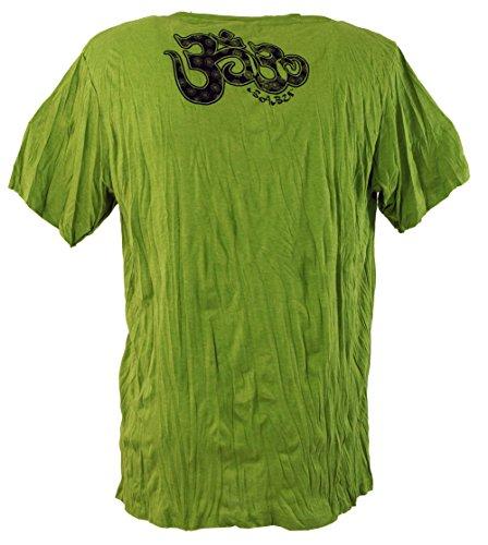 Guru-Shop Baba T Shirt Ganesha mit Drittem Auge, Herren, Baumwolle, Sure T-Shirts Alternative Bekleidung Grün