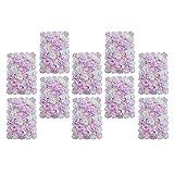 P Prettyia 10pcs 40 x 60cm Künstliche Blumen Säule Blumenwand Kunstblumen Dekoration