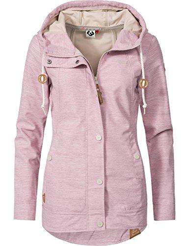 Ragwear Damen Übergangs Outdoorjacke Enrica (vegan hergestellt) Pink Gr. L