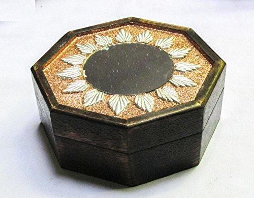 & Wandspiegel handgefertigten handgeschnitzten Deko achteckig Schmuck Box für women-men Jewel | Home Decor Akzente | Speicherung und Organizer (Dekorative Box-spring Cover)
