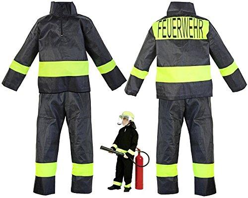 Kinder Kostüm Nerd (Kinder Feuerwehr Kostüm Uniform Hose Jacke Grösse 6)