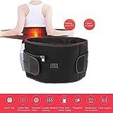 XHDMJ 3 In 1 Beheizt Massieren Hüftgurt-Wickel, Wärme & Massage Lendenwirbelstütze Mit 2 Motoren Für Männer Und Frauen (Schwarz),S,Small