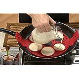 CuOmix Panqueques perfectos Maker Antiadherente Silicona Herramienta de Cocina Rápida Omelette y Fácil