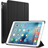 iPad Pro 9.7 inch Case, Zunzar™ (Soft Rubber Cover) iPad Pro 9.7 Slim Fit Folio Leather Smart Case with Rubberised Back Cover and Auto Sleep/Wake Function for iPad Pro 9.7 inch 2016 (Black)