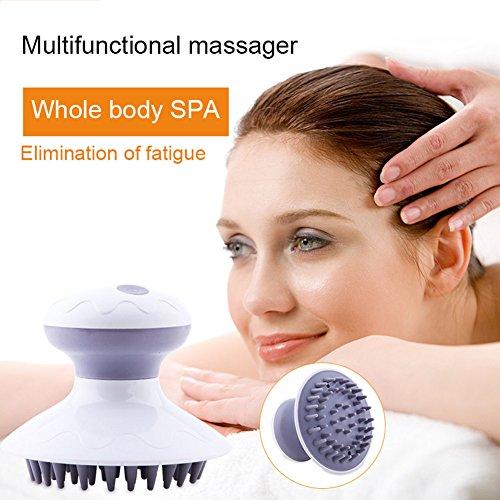 ESpeed Massage Brosse Cellulite, tête électrique cuir chevelu Masseur pour le cheveux lavage Shampooing Peigne Massage Brosse