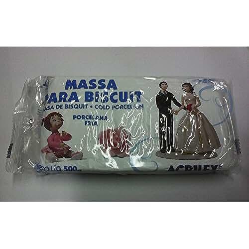 figuras kawaii porcelana fria Masa para biscuit Acrilex 500 gr. Porcelana Fria