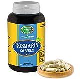 Rosmarin 180 Kapseln je 350 mg mit rein natürlichen Pulver, ohne Zusatzstoffe für bessere Verdauung