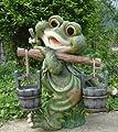Design 1 Frosch XXL 40 cm Hoch Deko Garten Gartenzwerg Figuren Dekoration