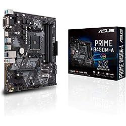 ASUS PRIME B450M-A - carte mère GAMING (AMD Ryzen B450 Socket AM4 mATX DDR4, Aura Sync)