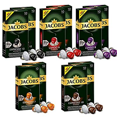 Jacobs Aluminium Nespresso®* Compatible Coffee pods - Pack of 10 (100 Servings) by JACOBS DOUWE EGBERTS