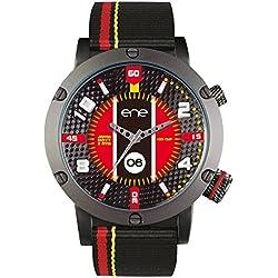 ene Watch Herren Uhr mit japanischem Quarzwerk und Nylonband