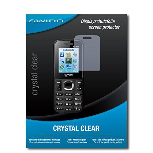 SWIDO Schutzfolie für Simvalley Mobile SX-305 Dual-SIM [2 Stück] Kristall-Klar, Hoher Härtegrad, Schutz vor Öl, Staub & Kratzer/Glasfolie, Bildschirmschutz, Bildschirmschutzfolie, Panzerglas-Folie