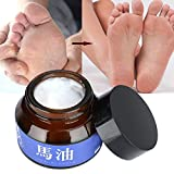 Yuyte 30g Piedi di olio di cavallo Prurito Allevia i batteri antibatterici esfolianti Crema idratante per la cura dei piedi