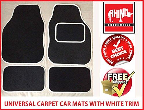 rhinoautomotive© Universal weiß Radkappe Teppich Auto Matte Set–rw1702 (Teppich 1702)