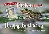 Glückwunschkarte zum Geburtstag mit Geldschlitz * Ein paar Kröten für Dich