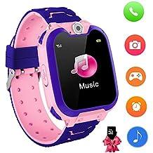 Reloj Inteligente para niños con Juegos - Niños Chicas Reloj Digital Pulsera de 2 vías Llamada