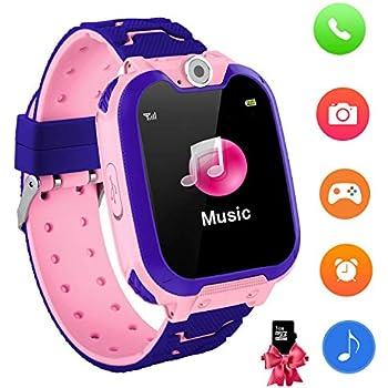 YENISEY Reloj Inteligente para niños con Juegos - Niños Chicas Reloj Digital Pulsera de 2 vías Llamada Reloj Despertador Juegos de cámara Reloj ...