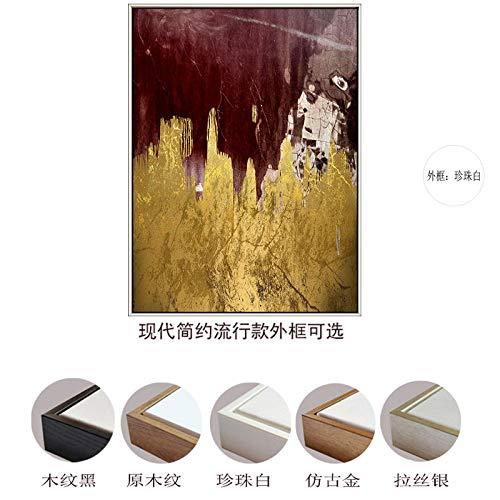 Zlhcich Moderno Minimalista Oro Cuadrado Abstracto