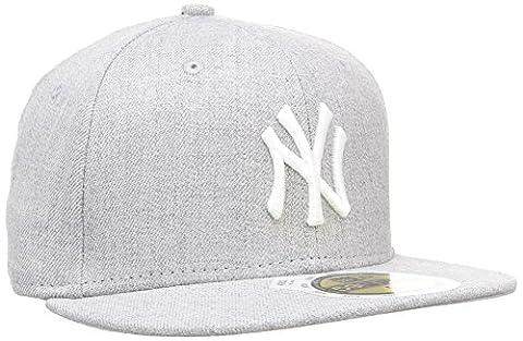 New Era K Mlb Basic New York Yankees Heather - Casquette pour Garçon, couleur Gris, taille 6 3/8