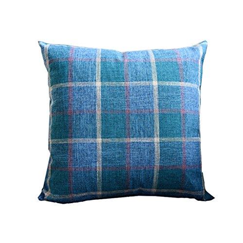 Cushions Liuhoulin Plaid-Gewebe-weiches dekoratives quadratisches Kissen-Kissen für Sofa-Schlafzimmer-Auto-Wurfs-Kissen (Color : C) -