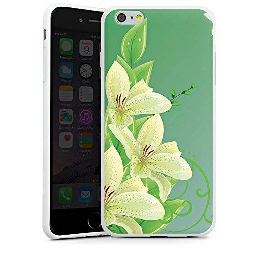 Apple iPhone X Silikon Hülle Case Schutzhülle Lilie Blume Lilly Silikon Case weiß