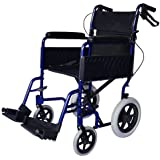 Ligera silla de ruedas de tránsito plegable con frenos de mano ECTR01