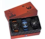 #9: Armado Analogue Blue & Black Dial Men's Watch(Ar-621251, Pack Of 3)