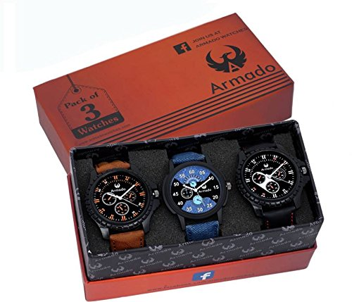 armado-analogue-blue-black-dial-mens-watchar-621251-pack-of-3