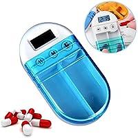 WESEEDOO 2 Fächer Automatische Elektronische Timer Kit Erinnerung Timed Box Medizin Kit Ältere Timing Kit preisvergleich bei billige-tabletten.eu