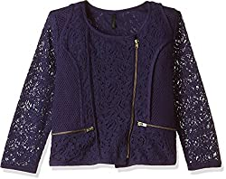 United Colors of Benetton Girls Jacket (16A2JACK0025IK32XX_Royal Blue)