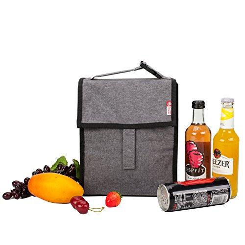 ALLCAMP Lunchtasche Isoliert Lunch Bag für Erwachsene Männer Frauen, Tragbare Thermaltasche Kühltasche für Büro/Schule/Picknic + 1 Kühlakkus