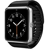 GSTEK Bluetooth Smart Watch Handy-Uhr Mit Kamera SIM / TF Card Slot Pedometer Touch Screen Smartwatch Armbanduhr Watch Phone für Android Smartphones (Silber)