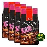 Melitta Mein Café DARK Roast, Kaffeebohnen, 4x 1000g (4000g) - Kaffee mit feiner fruchtiger Note!