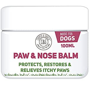 Dog Paw Nose Balm - 100ml - Cracked Itchy Paws Skin Protection - Cruelty Free - Best Grooming For Dogs