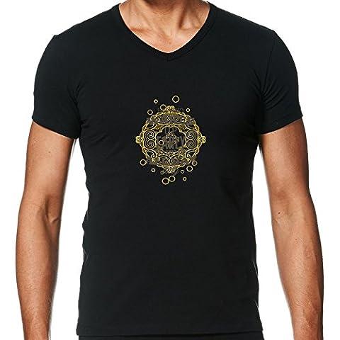 Camiseta V Cuello para Hombre - Diversión De La Tipografía