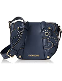 Love Moschino - Borsa Vitello Smooth Blu, Bolsos baguette Mujer, Azul (Blue), 6x17x22 cm (B x H T)