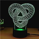 3d lampe für kinder,7 farben touch schalter led illusion nacht licht schlafzimmer dekoration mit usb-kabel -B