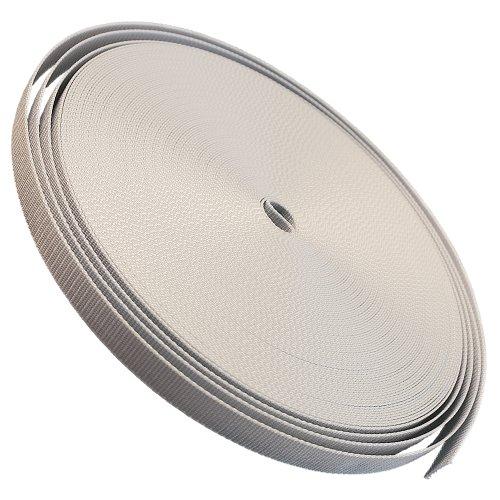 Gurtband 23mm Breite Farbe grau 50m-Rolle Rolladengurt für Rolladen -