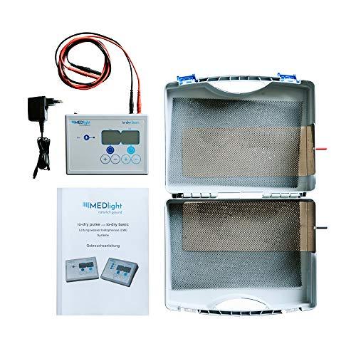 MEDlight Iontophorese-Gerät IO-Dry Basic gegen Hyperhidrose – KLINISCH GEPRÜFT – Mittel gegen übermäßiges Schwitzen an Händen und Füßen/Elektro-Stimulations-Therapie mit Gleichstrom