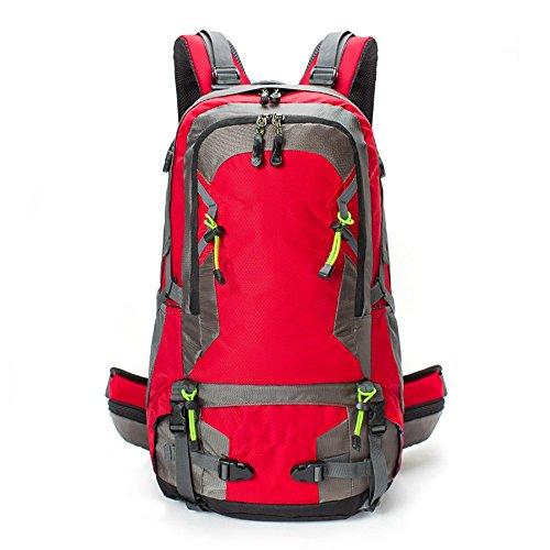 Borsa da viaggio all'aperto uomini e donne borsa a tracolla impermeabile resistente all'usura viaggio zaino da viaggio (40L), verde (50L) Red (50L)