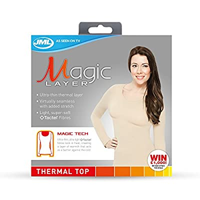 JML 3 x Magic Layer Women's Thermal Vest (black/white/beige) + FREE Belvia Bra
